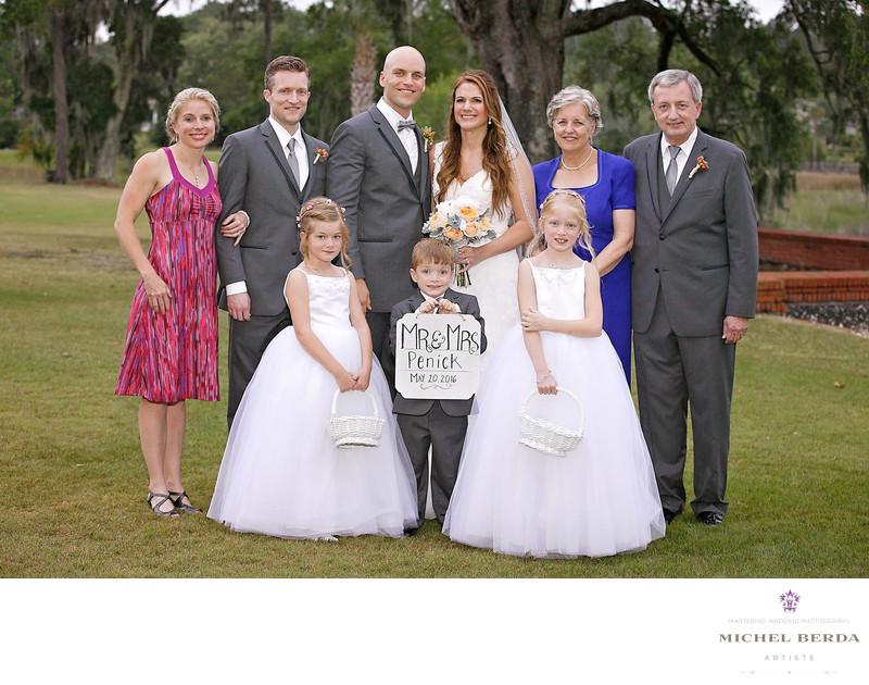 Family portrait Dunes West Golf & River Club