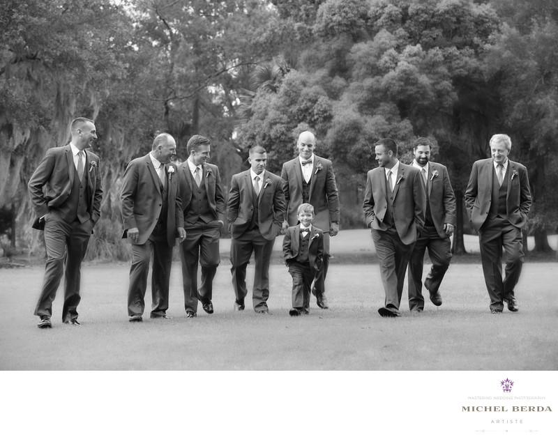 Groom & groomsmen Dunes West Golf & River Club