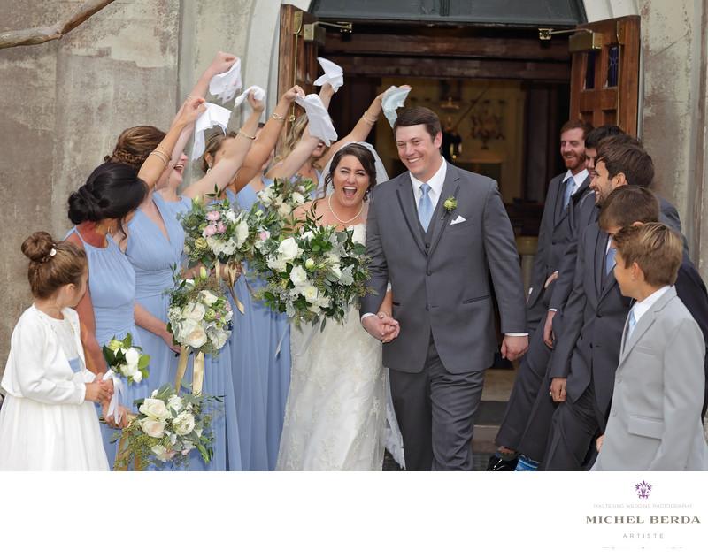 Bride & Groom congratulation bridal party Stella Maris