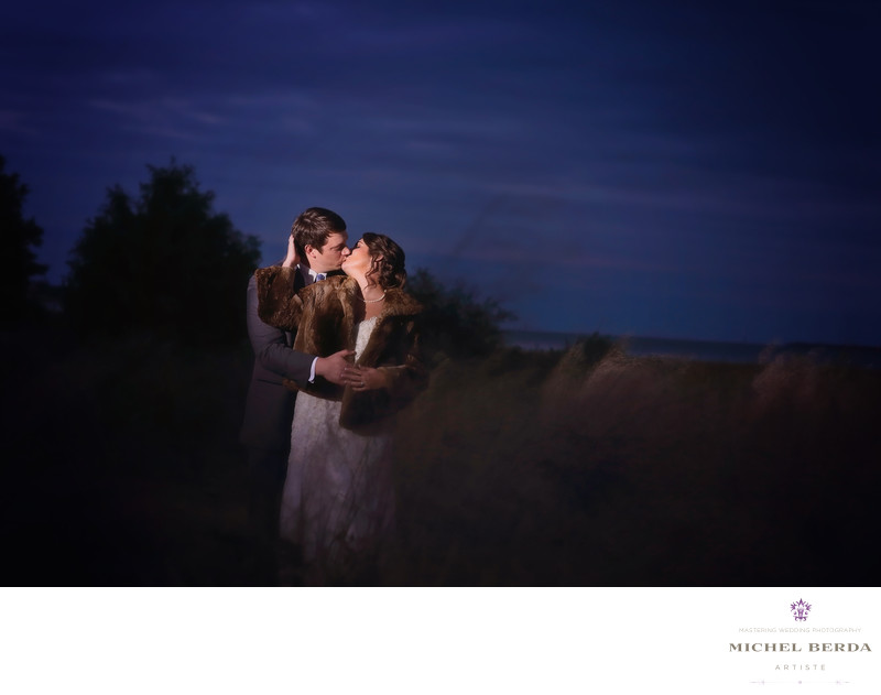 Bride & Groom night photography Alhambra Hall