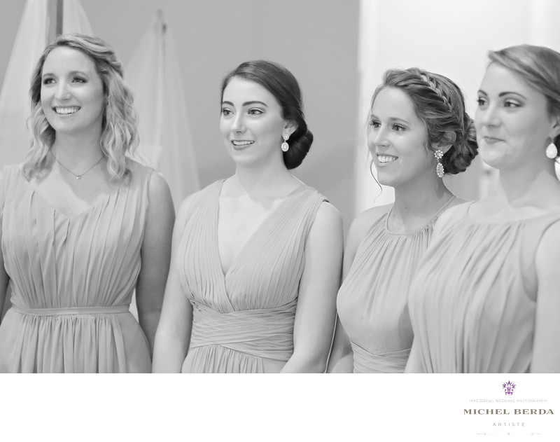First look bridesmaids Alhambra Hall