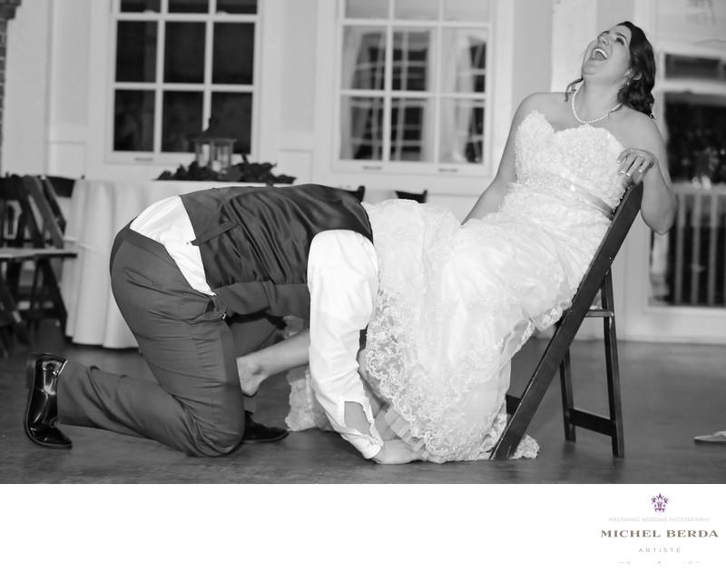 Garter bride & groom Alhambra Hall