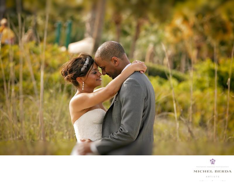 Beach bride and groom THE WESTIN HILTON HEAD ISLAND RESORT & SPA