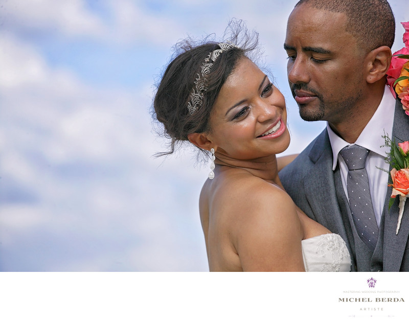 Bride and groom color THE WESTIN HILTON HEAD ISLAND RESORT & SPA