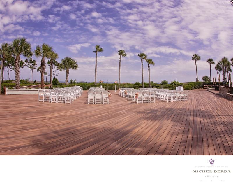 The Pavillion deck ceremony THE WESTIN HILTON HEAD ISLAND RESORT & SPA