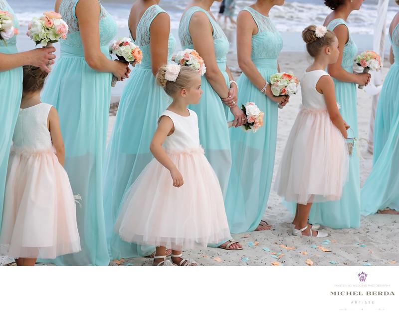 Flower girls Weddings Palmetto Dunes Oceanfront Resort