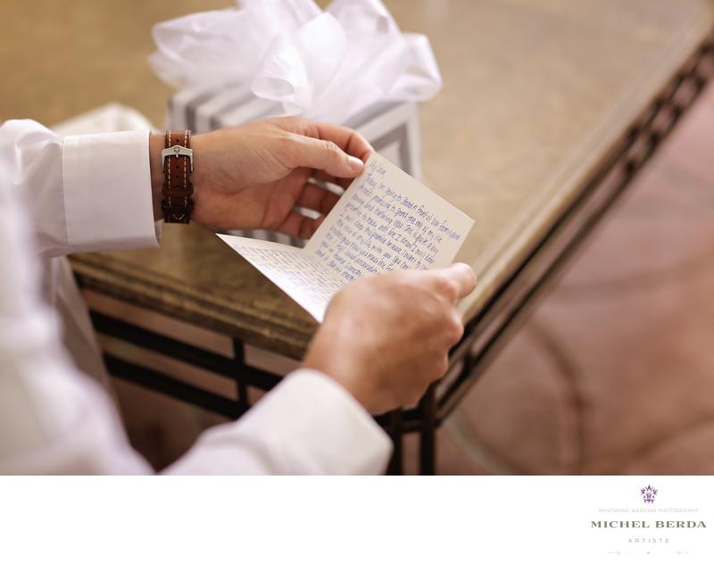 Gift lettter to groom Gift to groom Weddings Palmetto Dunes Oceanfront Resort