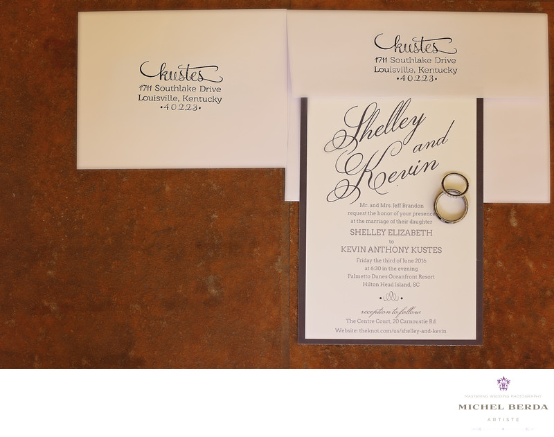 Wedding invitation Palmetto Dunes Oceanfront Resort