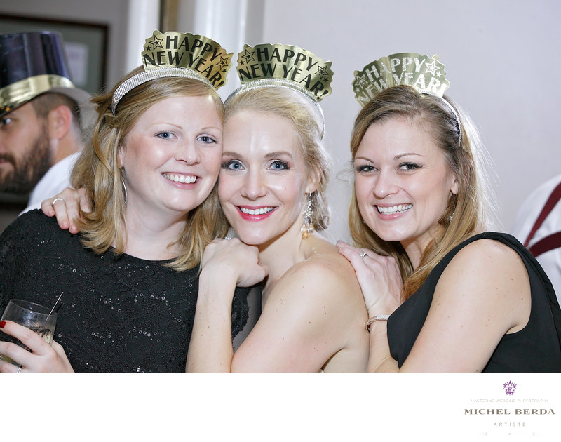 Bride And friends NYE The Mills House Wyndham Grand Hotel Charleston SC