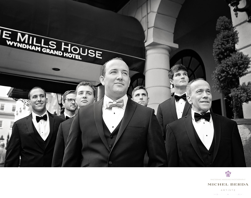 Groomsmen at The Mills House Wyndham Grand Hotel Charleston SC