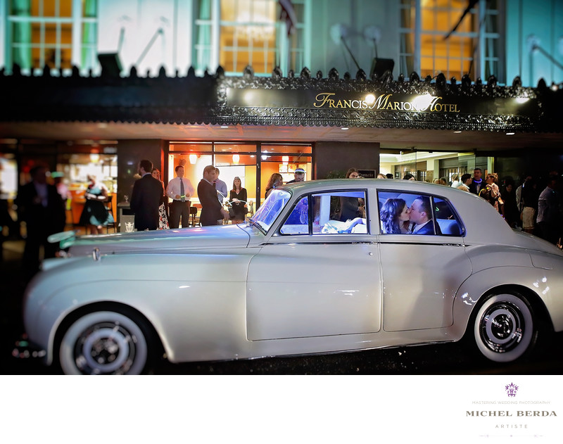 Charleston wedding photographers Francis Marion Hotel