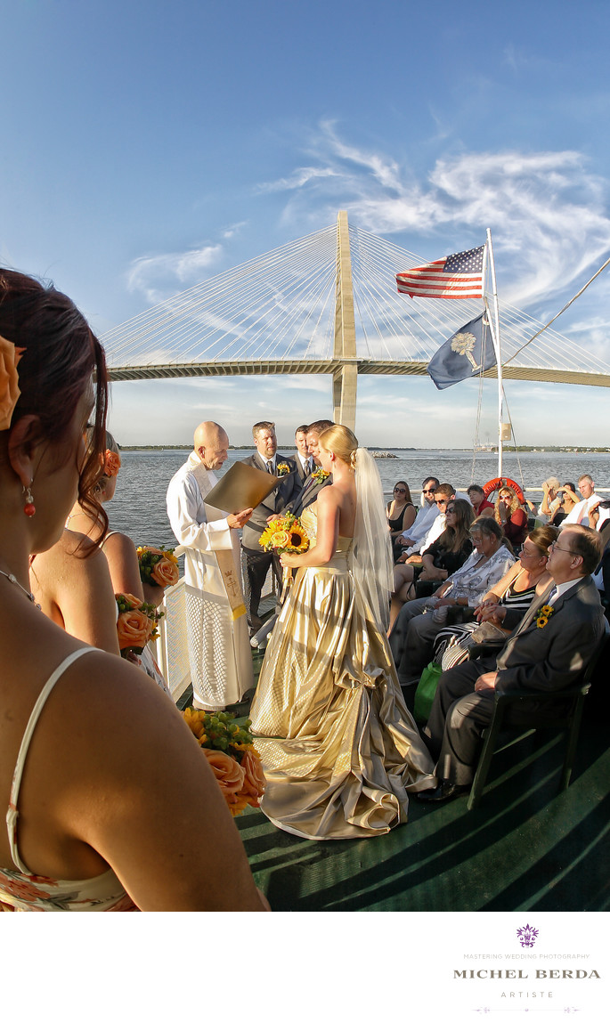 Charleston Harbor Tours & Cruises Wedding Photographer