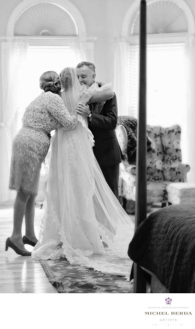 Parents hug Alhambra Hall