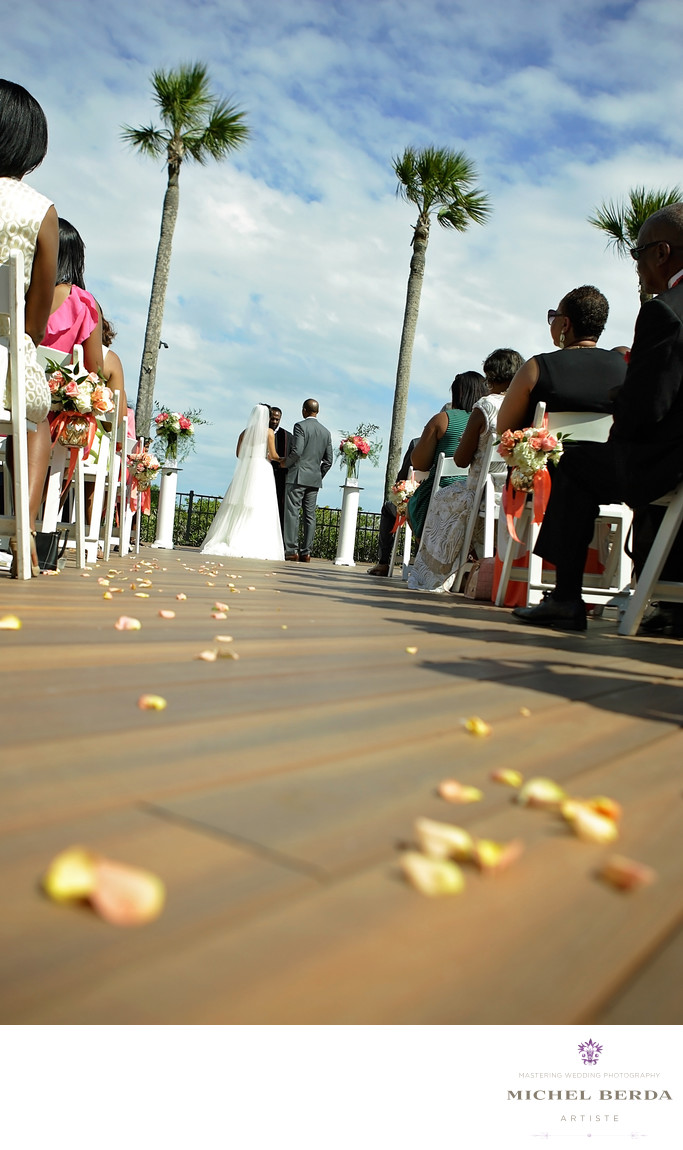 Ceremony The pavillion deck THE WESTIN HILTON HEAD ISLAND RESORT & SPA