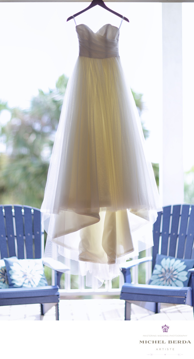 Dress at Wild Dunes Resort Wedding