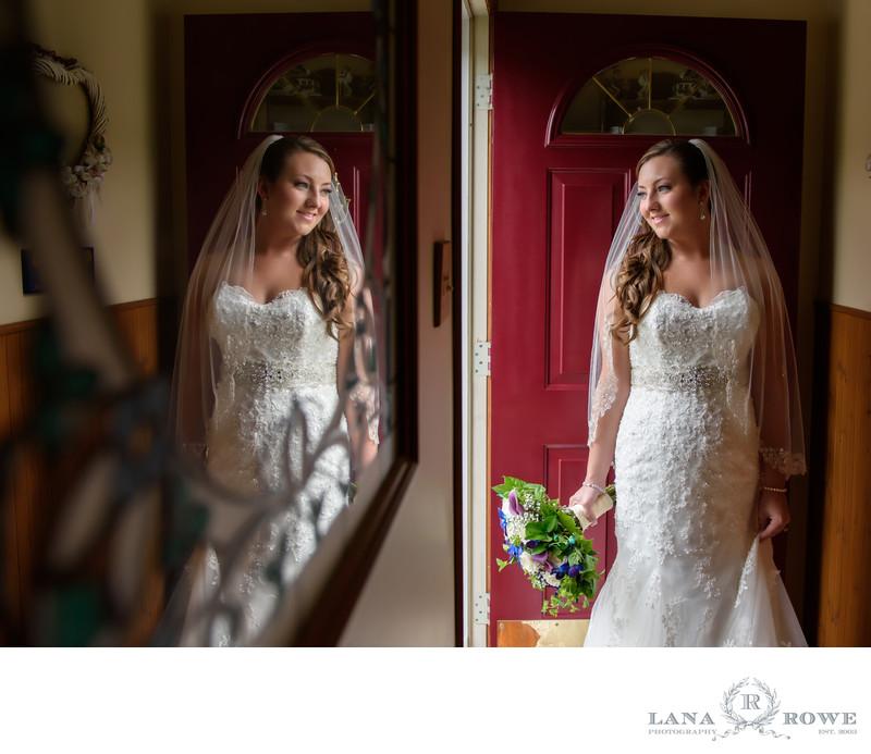 bride and reflection Chateu Briand