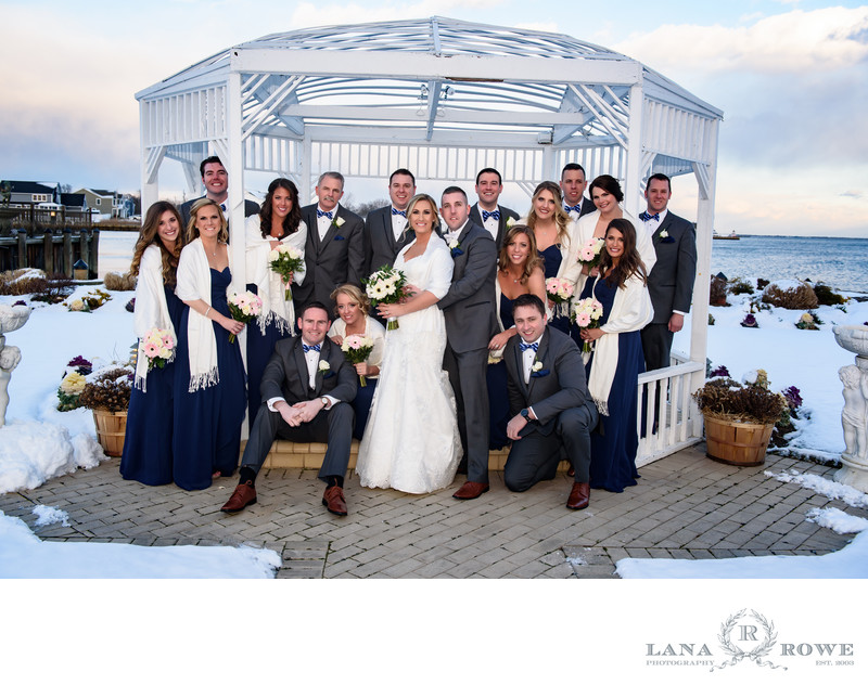 Wedding party winter wedding in Riviera caterers