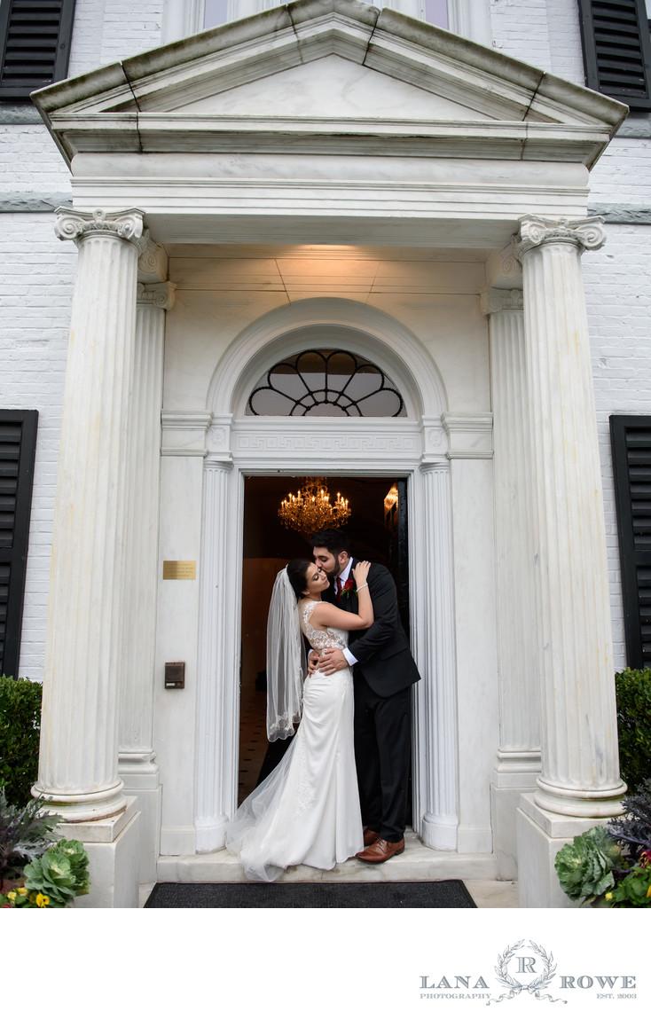 Nissequogue Golf Club wedding photography doorway