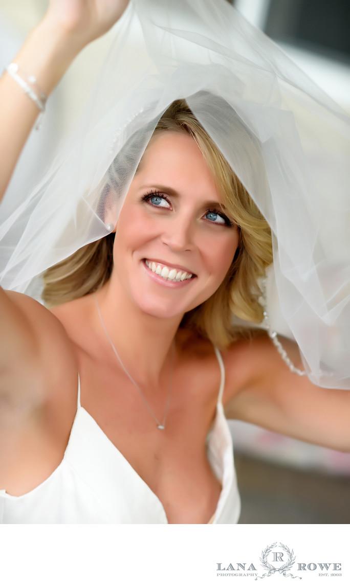bride with veil crest hollow