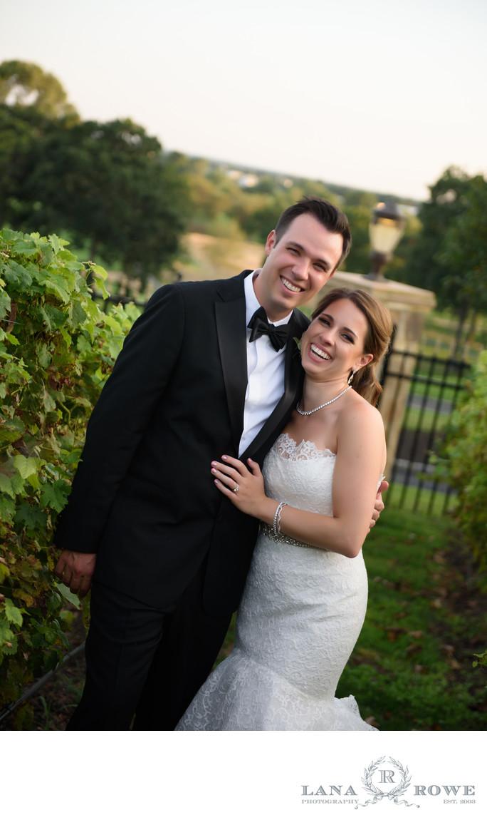 Giorgios garden bride and groom