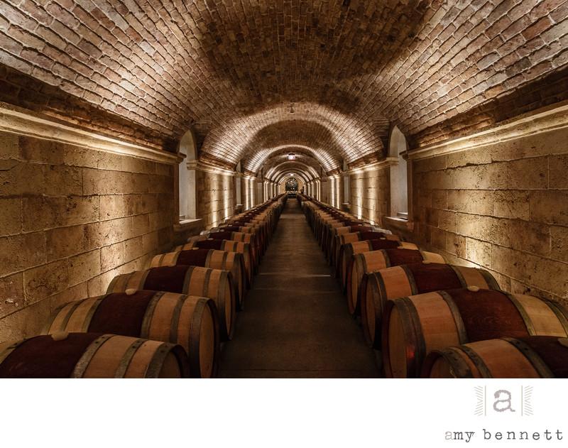 wine cellar in tunel