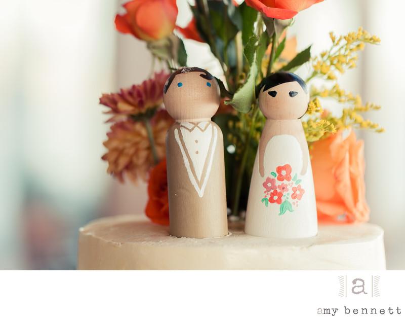 cute asian wedding cake topper