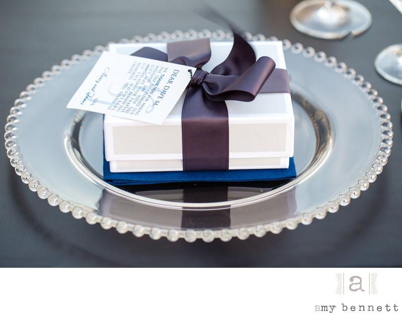 wedding gift on plate