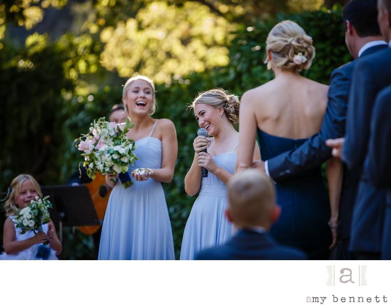 Laughing Bridesmaids' Speech