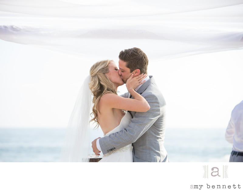 Bride and Groom Magic Kiss