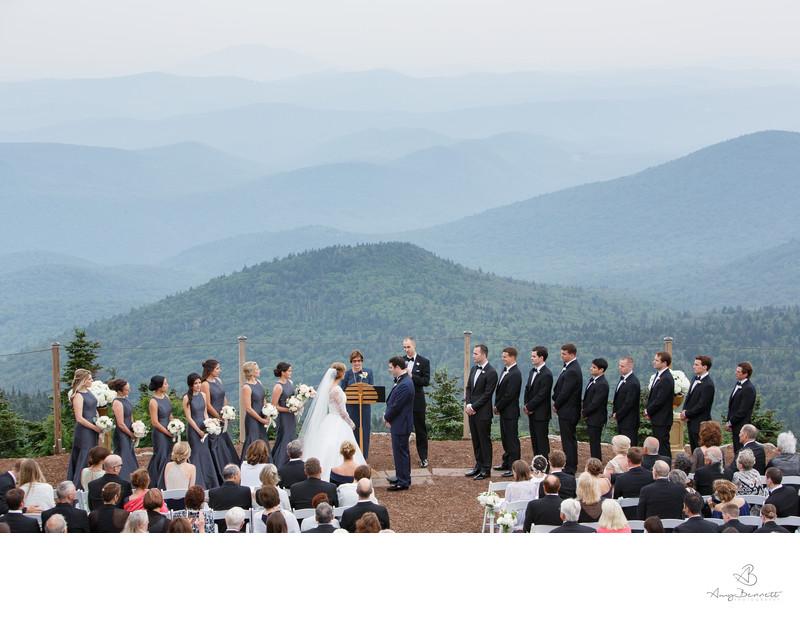Wedding Ceremony Green Mountains Six Peaks