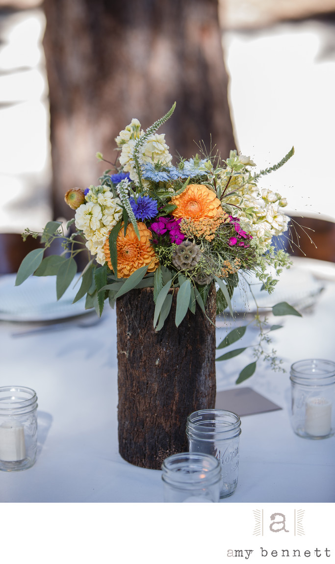 colorful flower placement