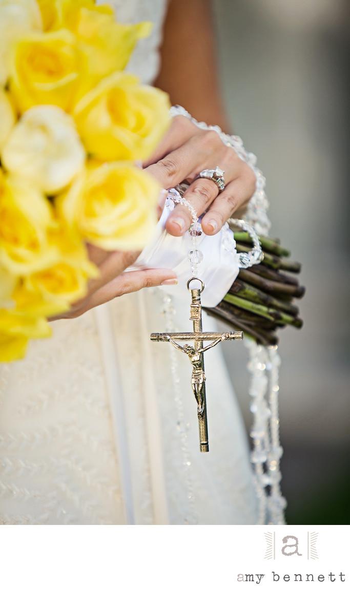 yellow rose religious bouquet