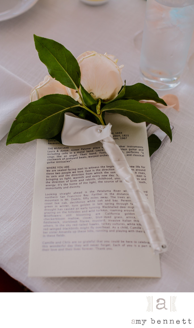 wedding speech on table