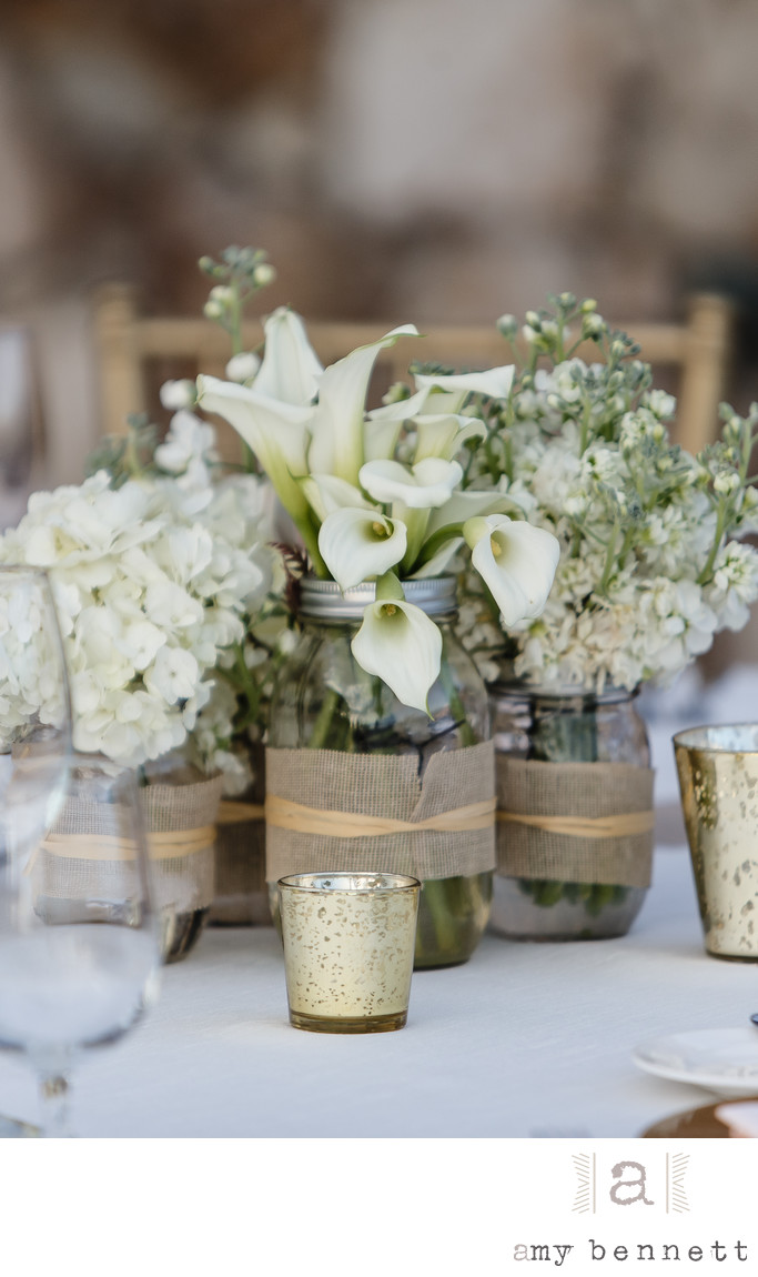 bouquets of flowers on the table