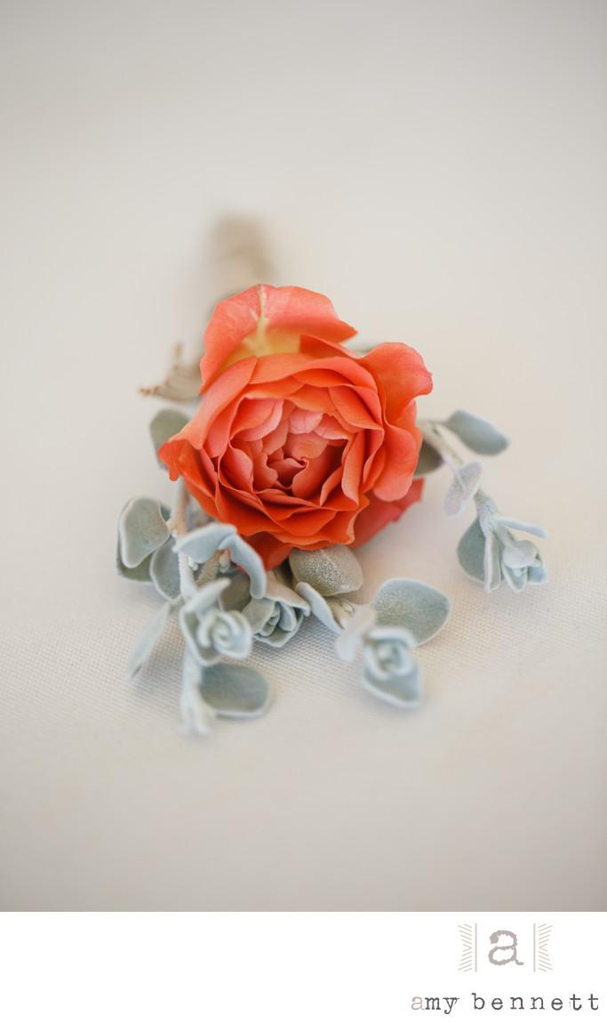 orange wedding rose