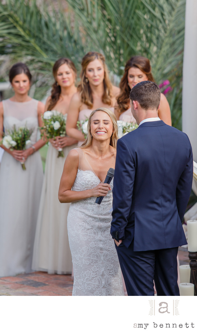 Emotional Bride During Vows