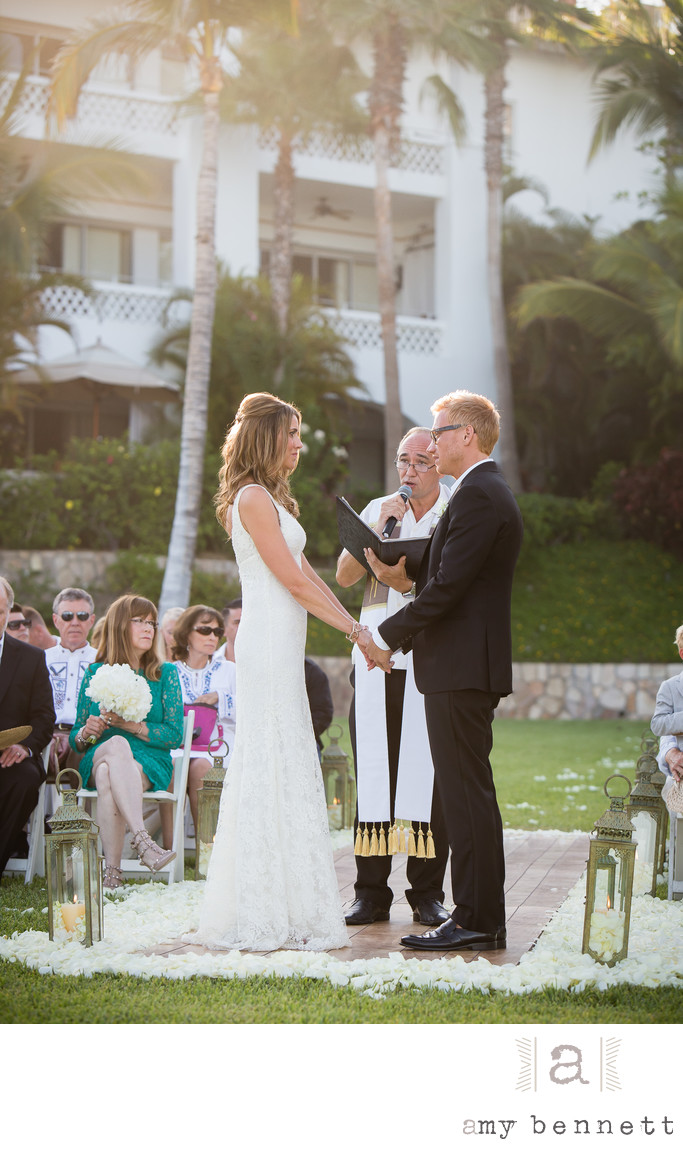Blissful Couple During Vows