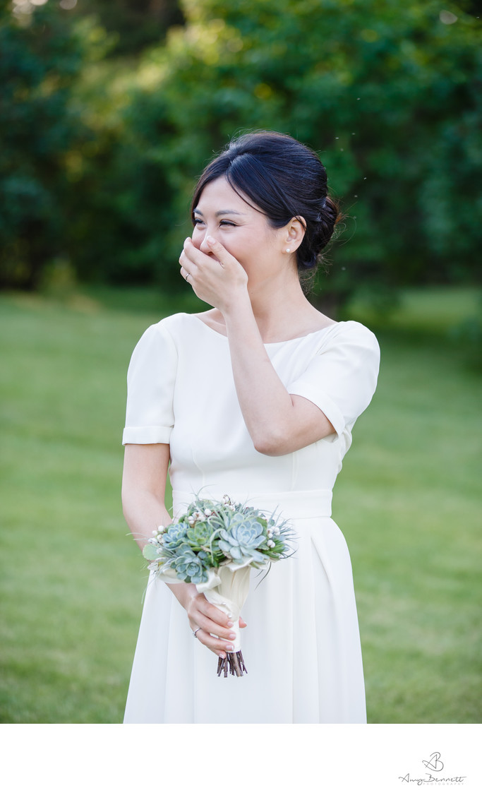 Can a Bride ever be too happy?