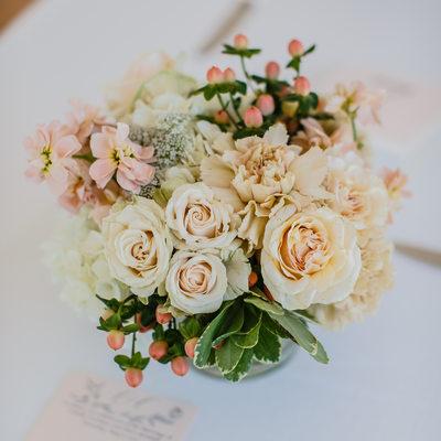 orange bouquet of flowers