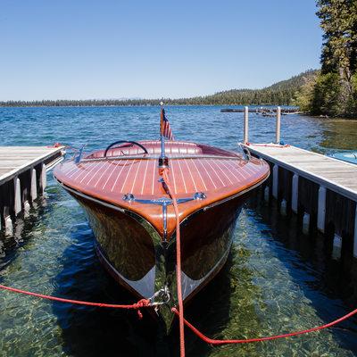 red boat in lake