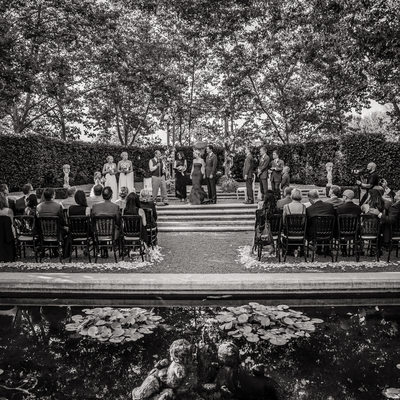 Scenic Black and White Wedding Ceremony