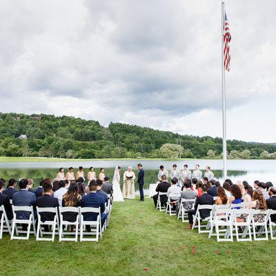 Wedding Ceremony at Quechee Club