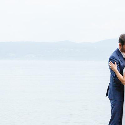 Lake Champlain Couple Kiss