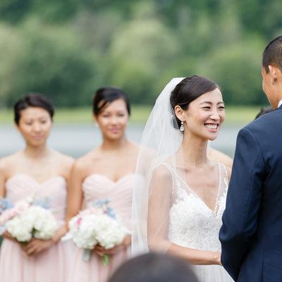 Happy Bride During Vows