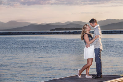 Engaged Couple with Jaw-Dropping Lake Champlain