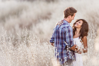 Delighted Couple in Wheat Field