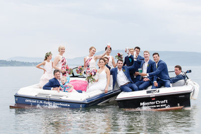 Wedding Party on Boats