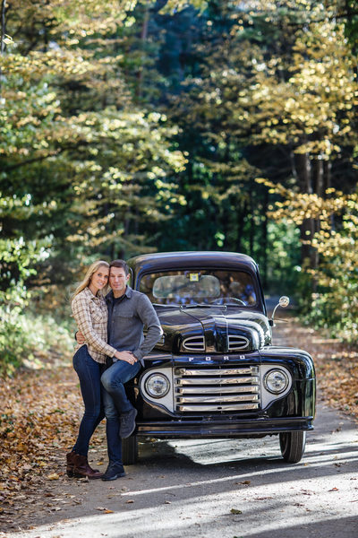 Vermont Engagement with Stunning Leaves