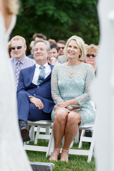 Groom's Delighted Parents at Ceremony