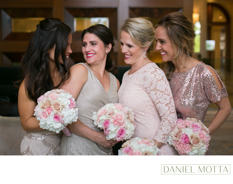 Bridesmaids at Four Seasons Hotel in Irving